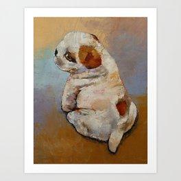 Naughty Puppy Art Print