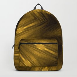 Golden Amber Metalic Abstract Star #Kaleidoscope Backpack