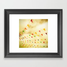 Flags & Color Framed Art Print