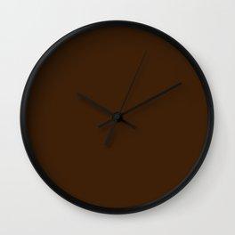 Dark brown Wall Clock