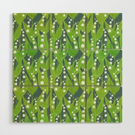 Lily of the Valley Pattern Wood Wall Art