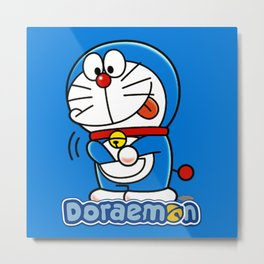 DOraemon with the Pocket Metal Print