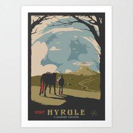 Visit Hyrule Art Print