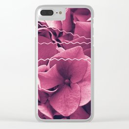 A Sea of Purple Pink Hydrangea Blossoms #1 #floral #art #society6 Clear iPhone Case