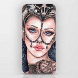 Viking Warrior Princess Fantasy Art Skull Crown Laurie Leigh iPhone Skin