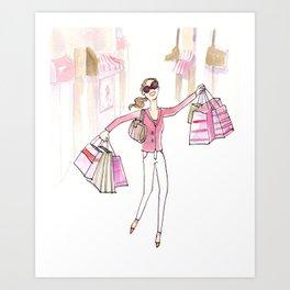 Shopping Spree Art Print