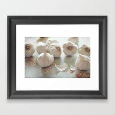 Garlic Lover Framed Art Print