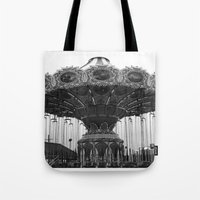 neverland Tote Bags featuring Neverland by Zooey Petunia