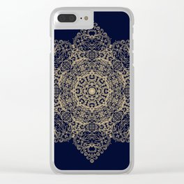 Golden star, mandala Clear iPhone Case