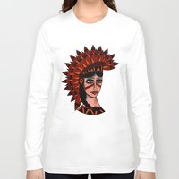 native Long Sleeve T-shirts featuring Native by caffeboy