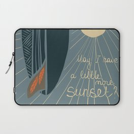 May I have a little more sunset? - illustration Laptop Sleeve