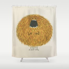 Poofy Wan Shower Curtain