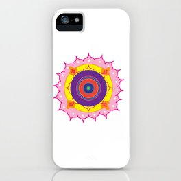 Mandala Pink iPhone Case