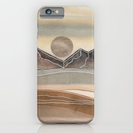 Abstract Watercolor Landscape 1 iPhone Case