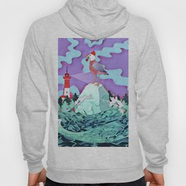 Seagull and the lighthouse Hoody