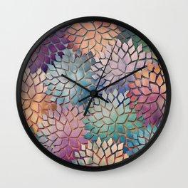 Abstract Floral Petals 4 Wall Clock