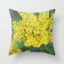 Golden Throw Pillow