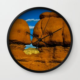 Twin Hoodoo's - Goblin Valley State Park, Utah Wall Clock