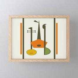 Mid-Century Modern Art Musical Strings Framed Mini Art Print
