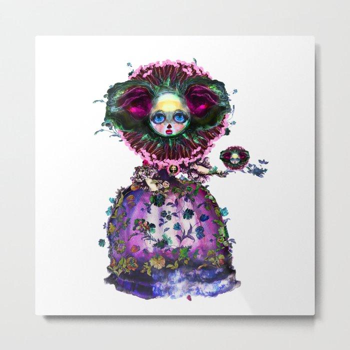 Beasts of Botanica - Black Mourning Bride's Extravagant Wedding Metal Print