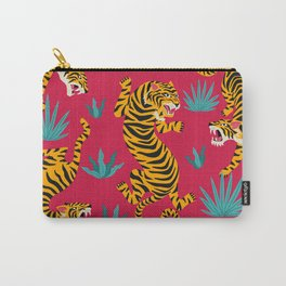 Red Tiger Pattern Carry-All Pouch