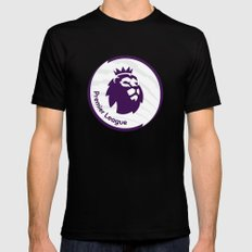 english premier league the best logo Mens Fitted Tee MEDIUM Black