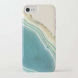 Geode Turquoise + Cream iPhone Case