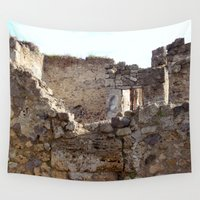 infamous Wall Tapestries featuring Pompeii Ancient Dwelling - 1 by Alaskan Momma Bear