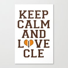 LOVE CLE BROWNS II Canvas Print