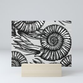 AMMONITE COLLECTION B&W Mini Art Print