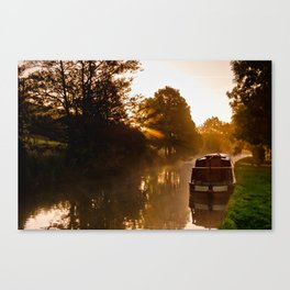 Sunrise over Keighley Valley Canvas Print