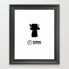Chinese Zodiac - Year of the Ox Framed Art Print