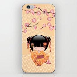 Japanese Ume Kokeshi Doll iPhone Skin