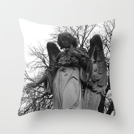 Angel Cemetery Statue Throw Pillow