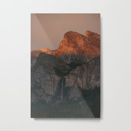 Yosemite Falls Sunset Metal Print