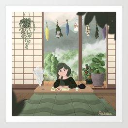 Inaka Girl Art Print