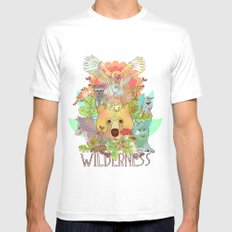 Wilderness MEDIUM Mens Fitted Tee White