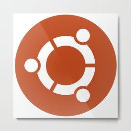 Ubuntu Logo Metal Print
