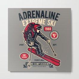 ADRENALIN EXTREME SKI - Skiing Camp Academy Metal Print