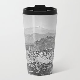 Pikes Peak and the Garden of the Gods, looking over the Gateway. Travel Mug