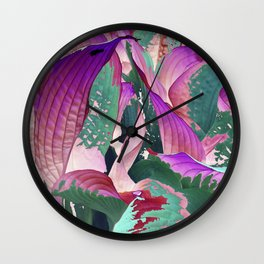 519 - Abstract Garden Design Wall Clock