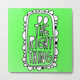Rule #1: Green Metal Print