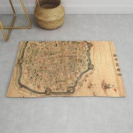 Map Of Ningbo 1850 Rug