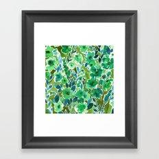 Isla Floral Green Framed Art Print