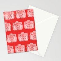 I Still Shoot Film Holga Logo - Reversed Red Stationery Cards