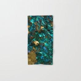 Teal Oil Slick and Gold Quartz Hand & Bath Towel