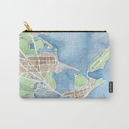 Coastal Map of Galveston TX Carry-All Pouch