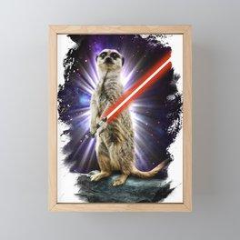Meerkat Framed Mini Art Print
