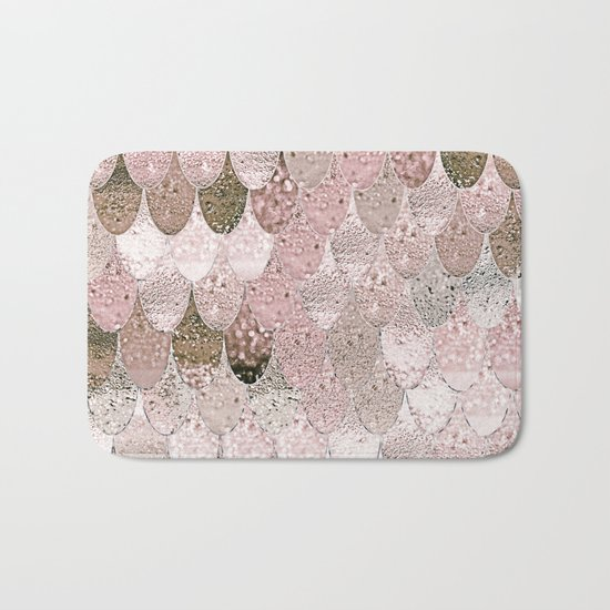 SUMMER MERMAID NUDE ROSEGOLD by Monika Strigel Bath Mat