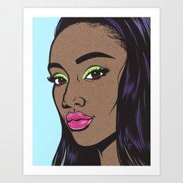 Black Fashion Model Comic Girl Art Print